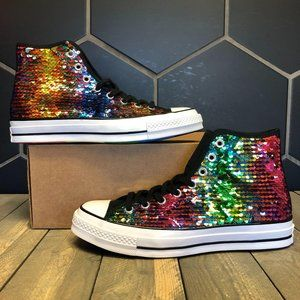Converse Chuck 70 High Pride Sequined Size 8.5